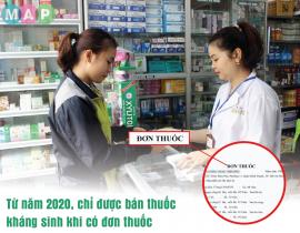 Từ năm 2020, chỉ được bán thuốc kháng sinh khi có đơn thuốc