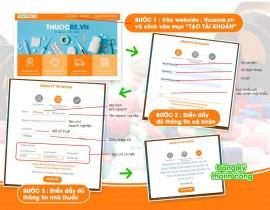 Hướng dẫn đăng ký tài khoản tại thuocre.vn