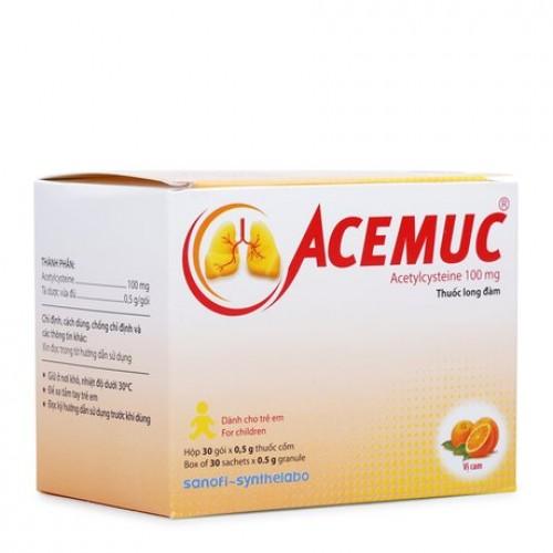 Acemuc-100mg (Acetyl) H30gx0.5g