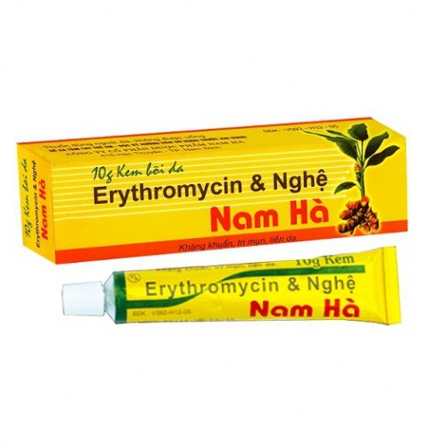 Erythromycin & Nghệ Nam Hà (10g/Tuyp)