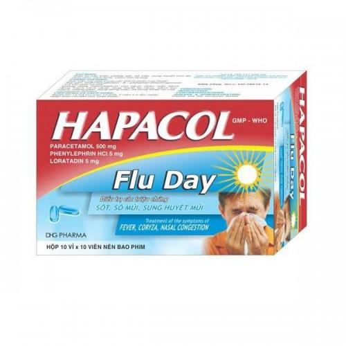 Hapacol Flu DHG (Hộp 10 vỉ x 10 viên nén)