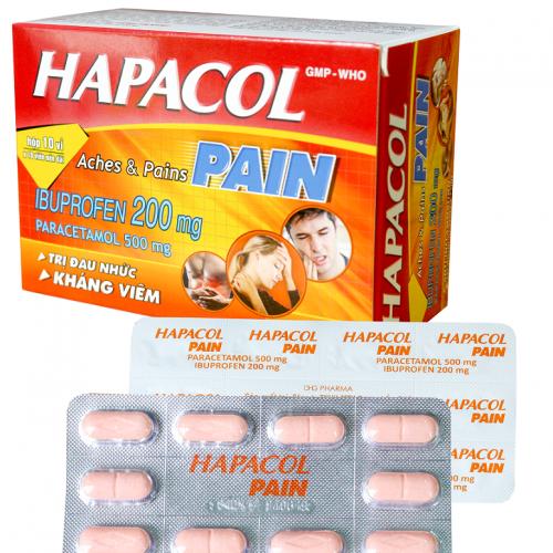 Hapacol Pain (Hộp 10 vỉ x 10 viên nén)