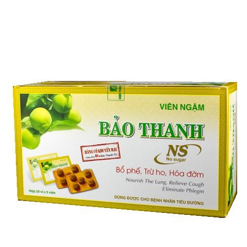 Viên Ngậm Bảo Thanh (100v/20vi/H)