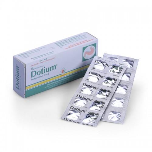Dotium 10mg (Domperidol)Hộp 10 vỉ x 10 viên