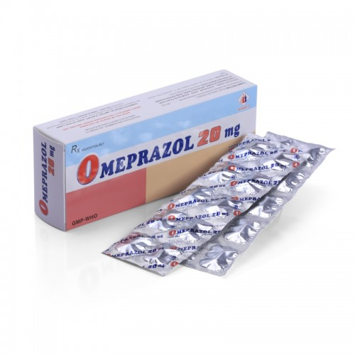 Omeprazol DMC 20mg Hộp 10 vỉ x 10 viên