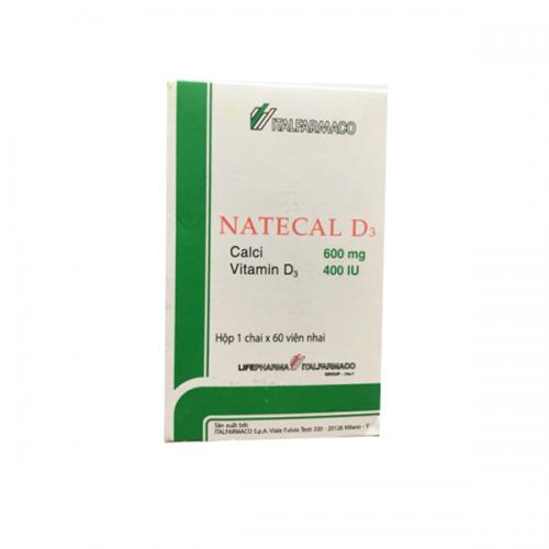 Natecal D3 (Calci 600mg+D3 400iu)