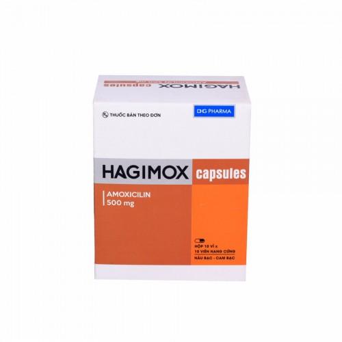 Hagimox 500mg (Hộp 10 vỉ x 10 viên)