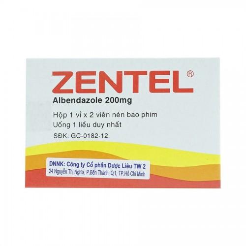 Zentel 200mg (Albendazol) (1 vỉ x 2v/H)