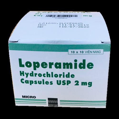Loperamide (Hydrochloride) (Hộp 10 vỉ x 10v)