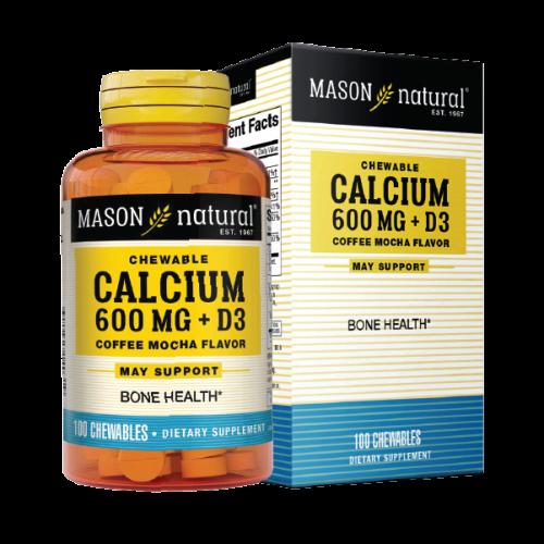 Mason Natural Calcium 600mg + D3