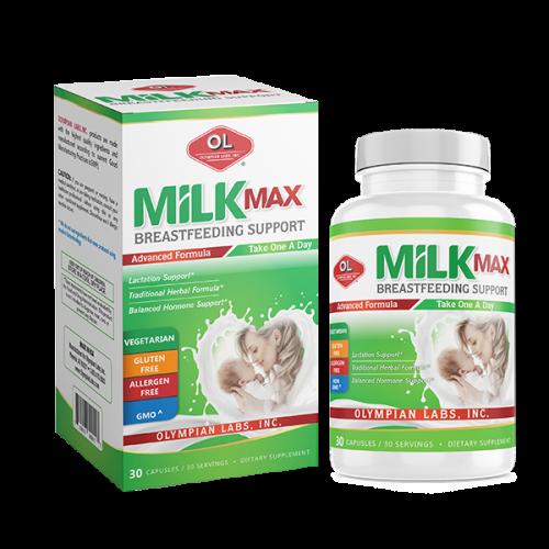 Milk Max Breastfeeding Support - Viên uống lợi sữa