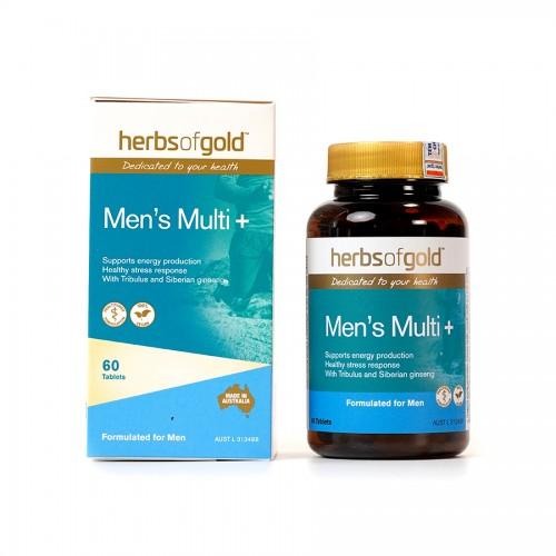 Herbs of Gold Men's Multi+ - Bổ sung vitamin và khoáng chất cho nam giới