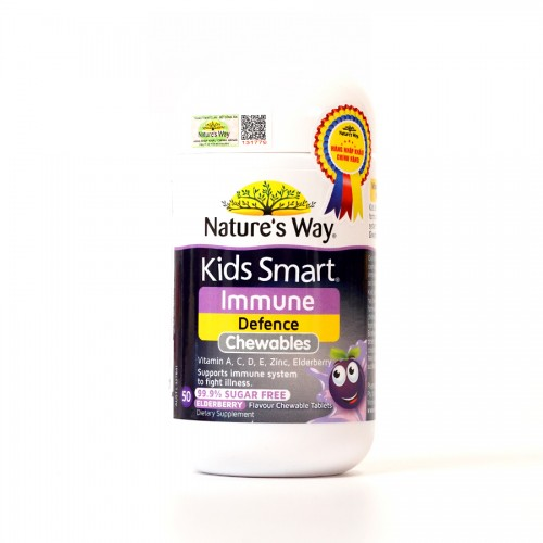 Nature's Way Kids Smart Immune Defence Chewables - Hỗ trợ tăng cường miễn dịch cho bé