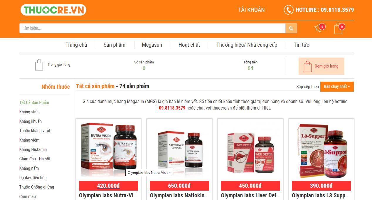 Hướng dẫn mua hàng tại thuocre.com 3